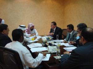 اجتماع إدارة أوقاف محمد الراجحي مع المدير الأقليمي لشركة فنادق موفنبيك